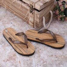 Летняя Новинка 2017 г. сандалии на плоской подошве Модные мужские вьетнамки пляжные сандалии для мужчин плоские шлепанцы на нескользящей подошве Удобная мужская обувь