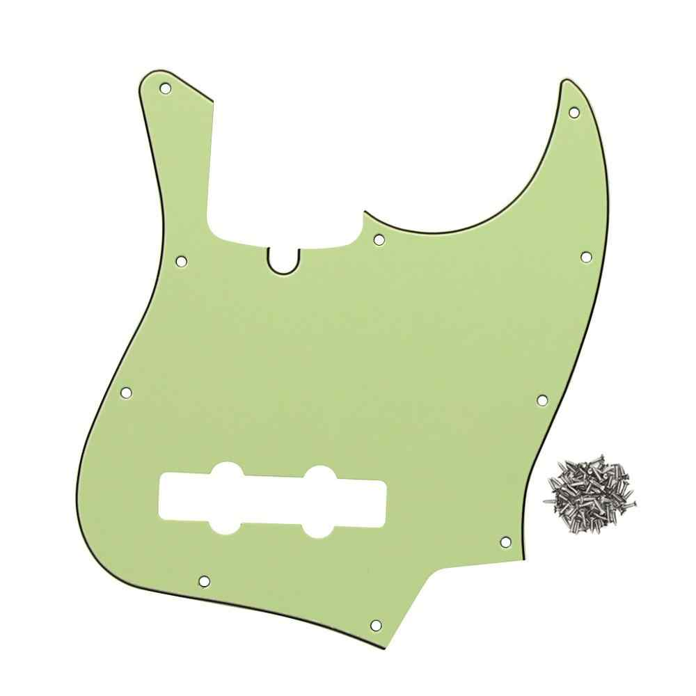 Novo Buraco 10 3Ply JB Bass Pickguard Raspadinha Placa & Parafusos para 4 Cordas Graves Peças Verde Menta
