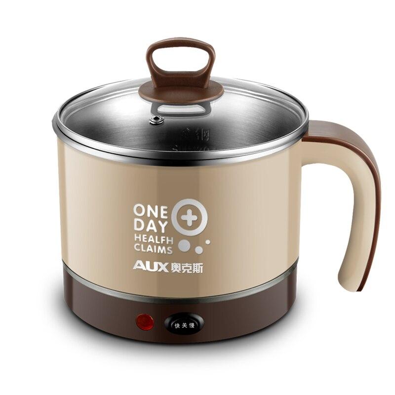 220 В AUX 1.5L Электрический Hot Pot чашки Mini Multi Плита для студентов офицер нагрева обед легко Управление AUX-12B09