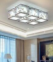 2018 новый современный простота 90 260 В 4 головки 6 головок Гостиная Спальня отель светодиодный лампы потолок Крытый Energy экономия светодиодный