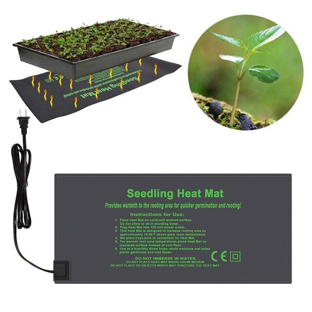 Estera de calor de plántulas a prueba de agua 52X24 cm almohadilla de calentamiento hidropónico almohadilla de reproducción de la germinación caliente