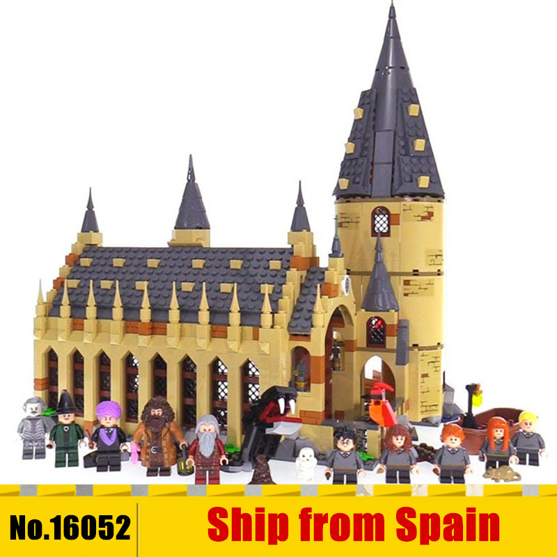 16052 Harry Movie Potter The 75954 Hogwarts Great Wall Set Building Blocks kids Educational Toys Christmas