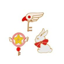 2017 new Japanese anime cartoon oil, Sakura star rod rabbit all-match brooch brooch