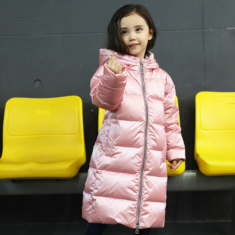 Winter Coats Girls Kids Winter Jacket White Duck Down Children Coat 2018 New Fashion Boys Winter Coats Long Outerwear 2015 men fall winter duck down jacket ultra light thermal fashion travel pocketable portable thin sports duck coats outerwear 4