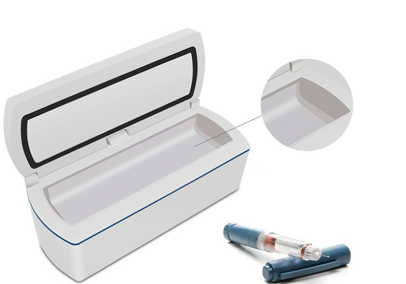 цена Mini Portable insulin Refrigerator Medicine Storage cooler box Reefer Small Refrigerator Essential travel
