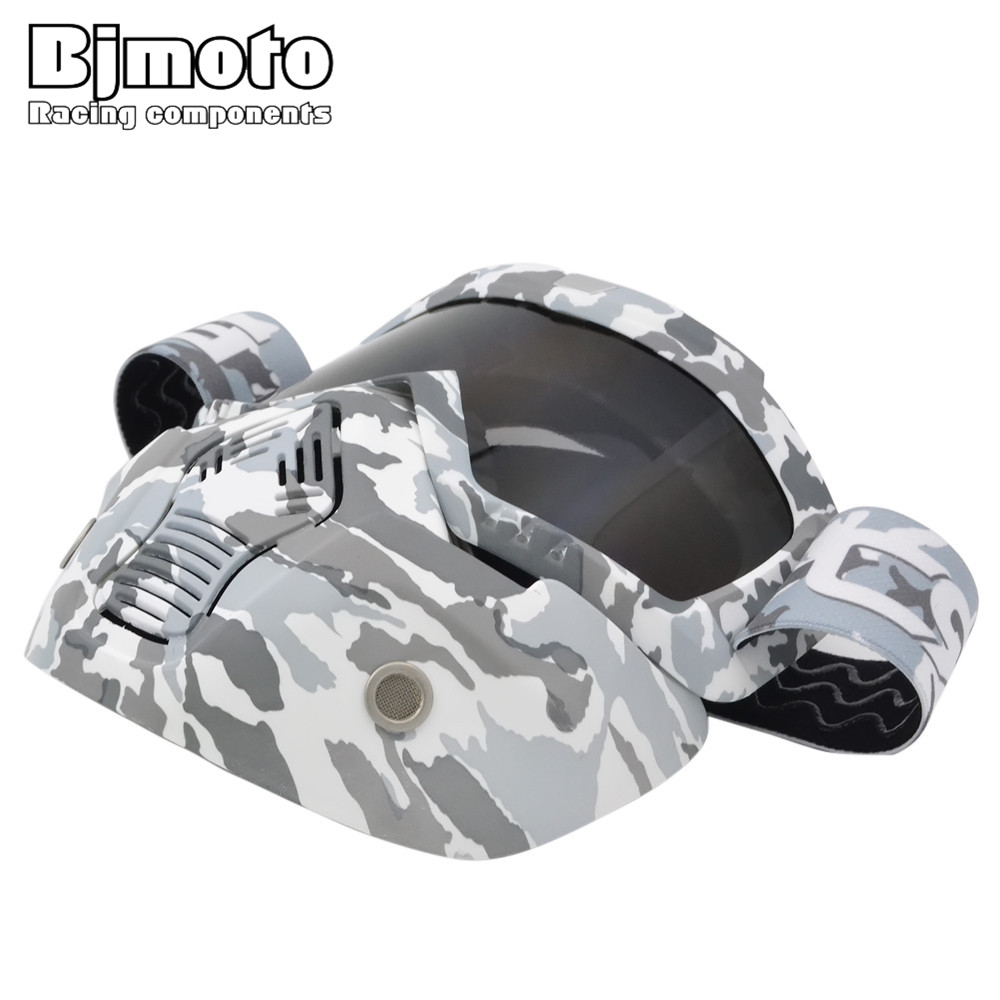 Bjmoto motorcycle dust mask Goggles goggles glasses Modular Mask Detachable Mouth Filter