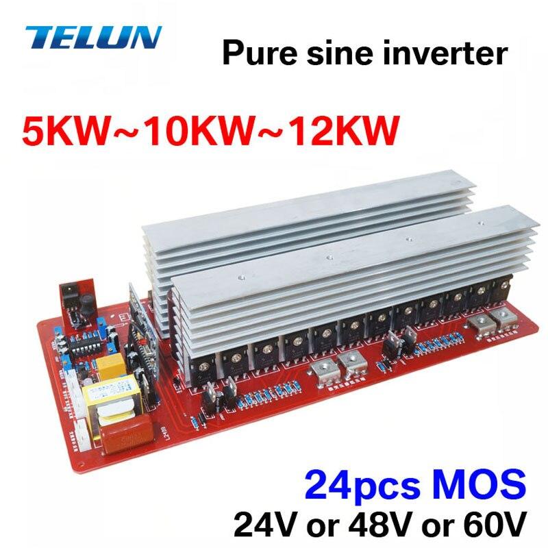 5KW 10KW 12KW Pure Sine Inverter DC24V or 48V or 60V to AC220V 110V 120V Converters