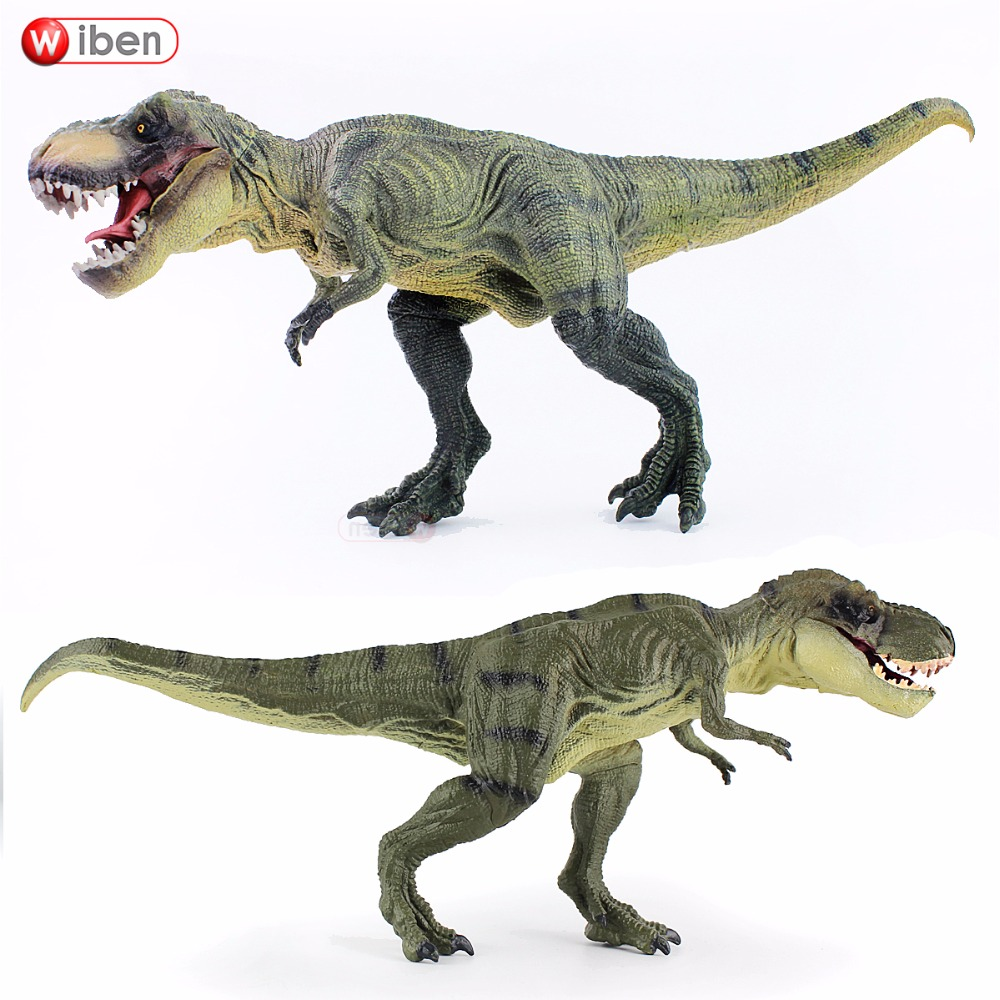Wiben Jurassic Tyrannosaurus Rex T-Rex Dinosaur Toys  Action Figure Animal Model Collection Learning & Educational Kids Gift wiben 3pcs jurassic triceratops tyrannosaurus rex parasaurolophus cub model dinosaur toys action toy figures collection gift