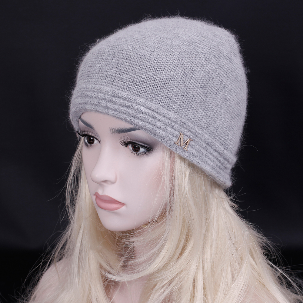 2017 Adult Women wool knitted hats for winter Solid colors contracted Unisex Skullies Beanies brand hat