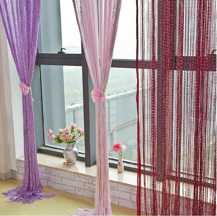 cm lnea cortina exclusiva decoracin cortina de seda de plata cortina del dormitorio