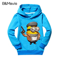 New 2016 Boys Girls T Shirts Cotton Minions Spring Kids Tops & Tees Long Sleeve Child Clothes Baby Boy Cartoon Clothing