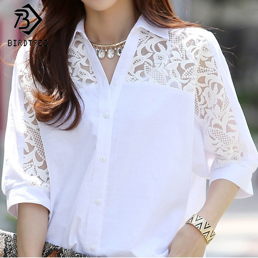 Large Size 3XL Summer Female White Tops Women's   Blouse   Fashion 2018 Spring Casual Batwing Sleeves   Shirt   Female Tops Hots T82803A