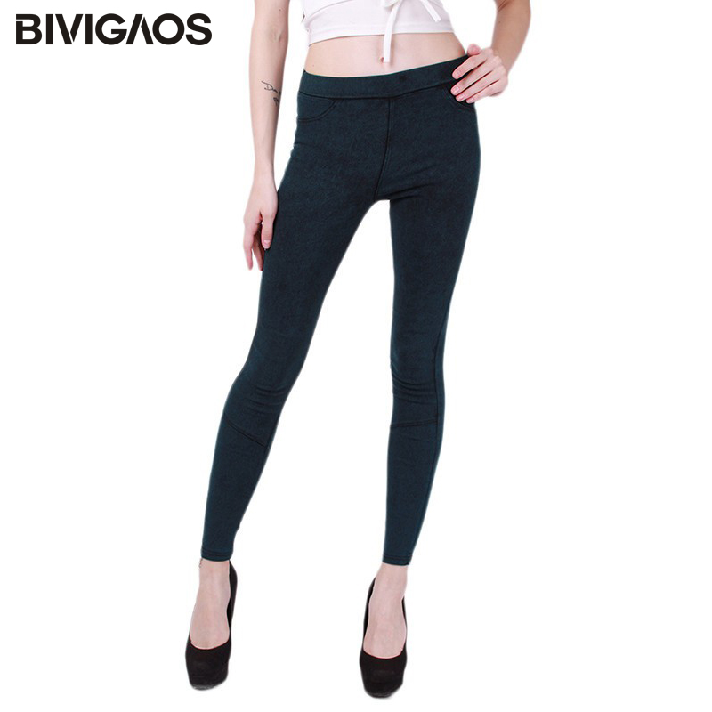 New 2018 Hot Sale Spring Autumn Fashion Washed Denim Pencil Pants Skinny Slim Hip Jeans Leggings Female Thin Jeggings For Women