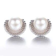 Boucles d'oreilles en argent sterling 100% 925 de haute qualité pour femmes, design coquille de perle, bijoux Anti-allergie, cadeau, vente en gros