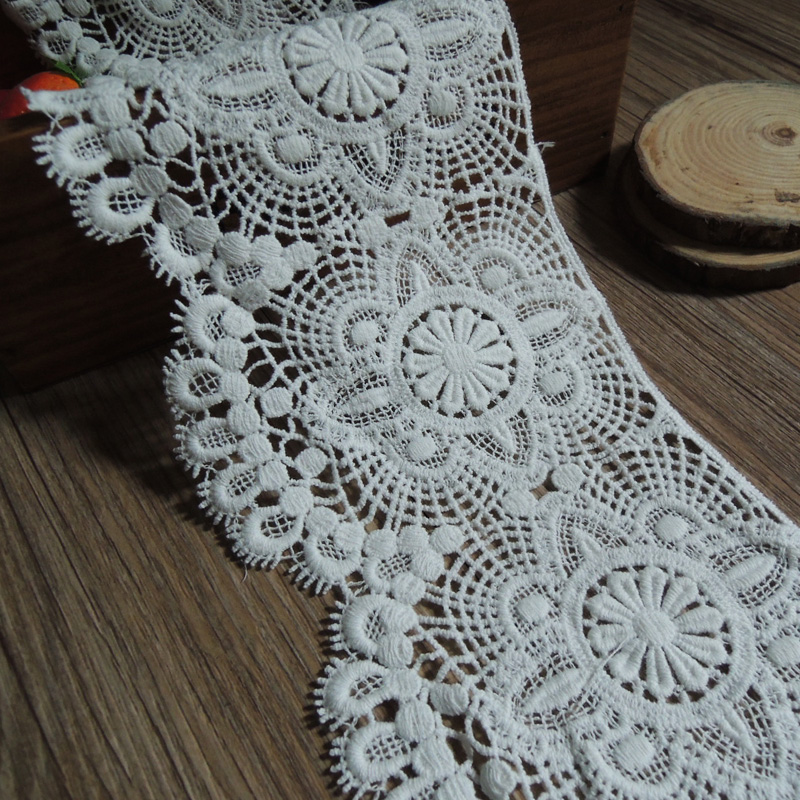 White Embroidered Lace Trim Sewing Craft 10cm DIY White Textile Accessary 4yards Free Shipping Z850