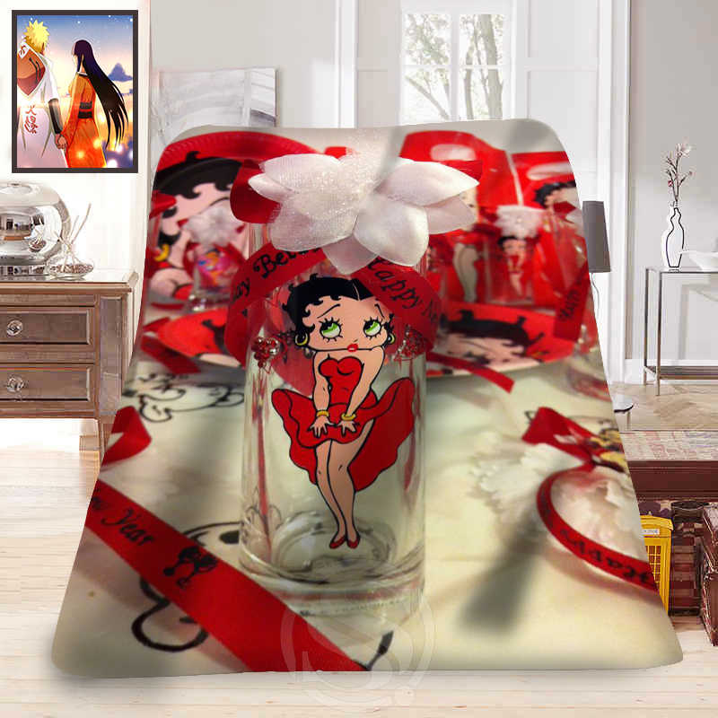 F315 betty  boop NEW  Custom Home Decoration Bedroom Supplies Soft Blanket  LFU89