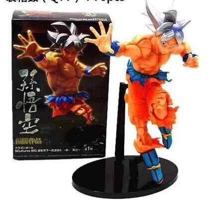 23 cm de prata Anime Dragon Ball Z Goku PVC Action Figure Nova Coleção figuras brinquedos brinquedos Coleção para amigo presente