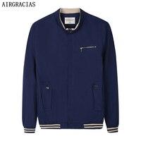 AIRGRACIAS 2017 Men S Slim Fit Jacket 100 Cotton Material High Quality Fashion Slim Men S