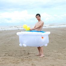 Bathtub Inflatable Costume Party Cosplay Halloween Costumes For Men Women Mascot Jumpsuit Anime  Funny Dress