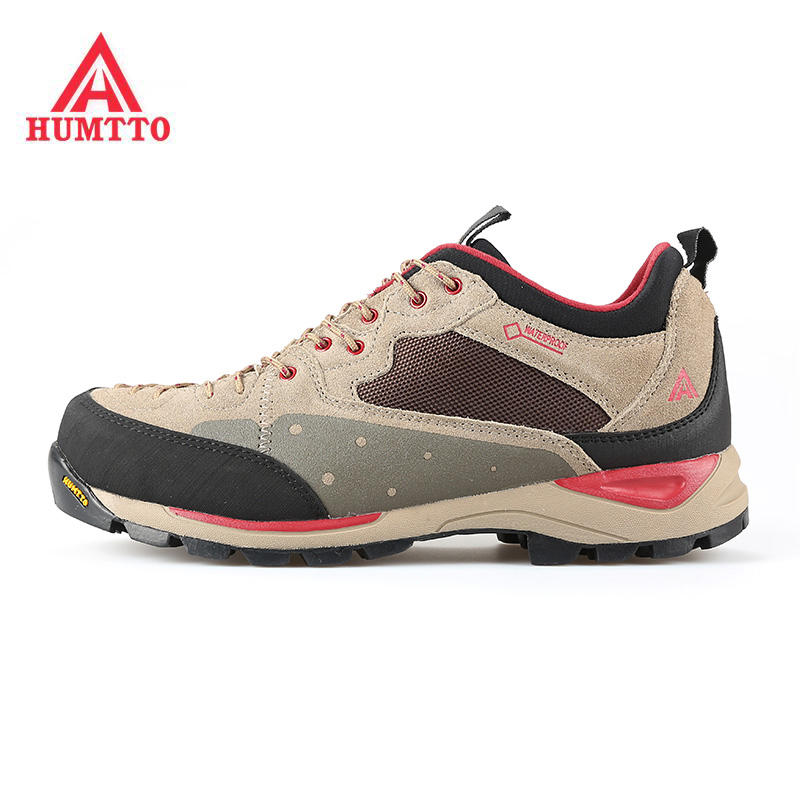 Famous Brand Men's Leather Outdoor Trekking Hiking Shoes Sneakers For Men Sports Outdoor Climbing Mountain Shoes Man Senderismo men s sneakers outdoor mountain hiking shoes trekking boots man 2017 brand waterproof leather climbing shoes male sports shoes