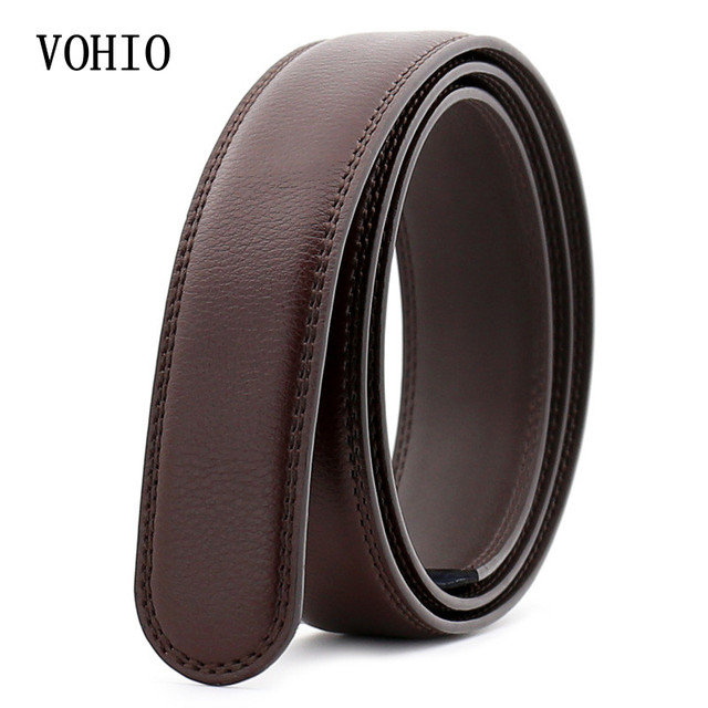 1ecac78c192 VOHIO marque de luxe femme ceinture en cuir hommes ceinture de corps avec  Article automatique noir