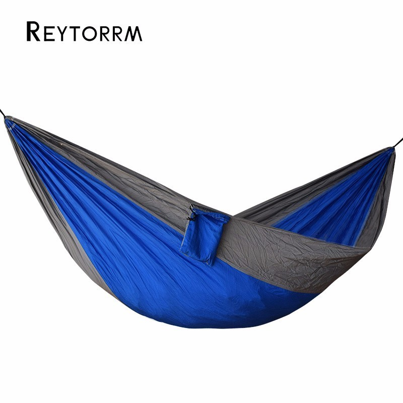Lightweight Portable Camping Hunting Single Parachute Hammock Comfortable For Travel Hanging Hamac Hamak Patio Furniture thicken canvas single camping hammock outdoors durable breathable 280x80cm hammocks like parachute for traveling bushwalking