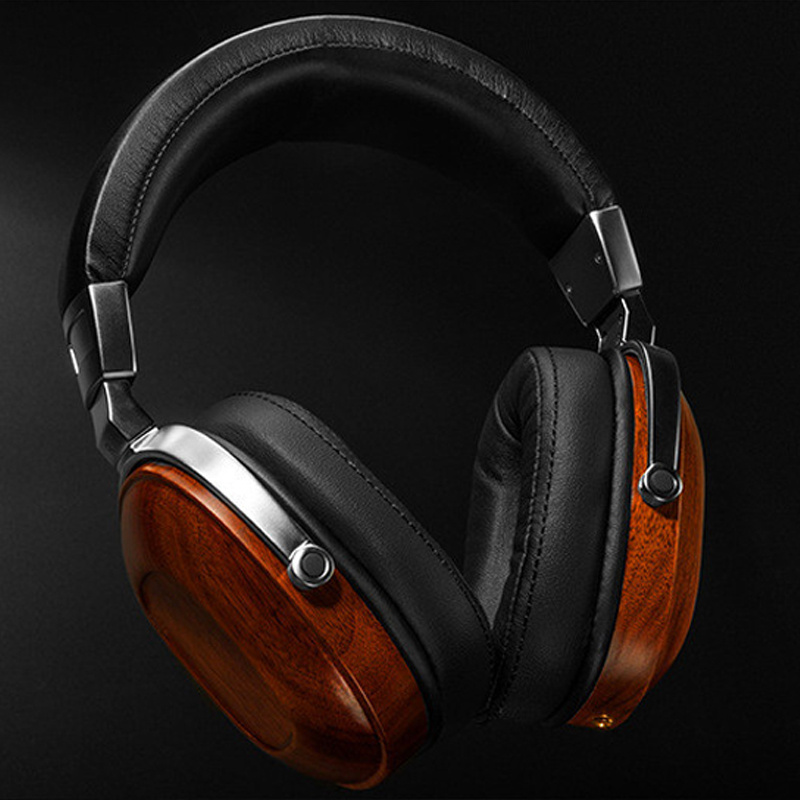 Soft Headband Wooden Headphones 3.5mm Headset Heavy Bass Noise Reduction Head phones for All Mobile Phone