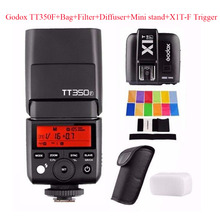 Godox TT350F 2.4G HSS 1/8000s TTL GN36 Camera Flash Speedlite for Fuji Cameras + X1T-F Trigger+Bag+Filter+Diffuser+Mini stand