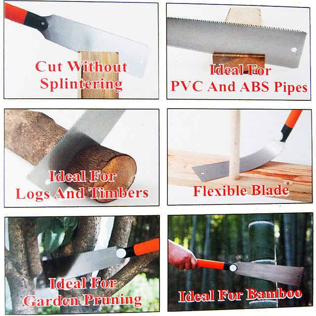 Hand Saw 3-edge Teeth Razor Saw Wood Tenon Cutter Garden Saw For Wood/Bamboo/PVC/Plastic Cutting DIY Woodworking Tools