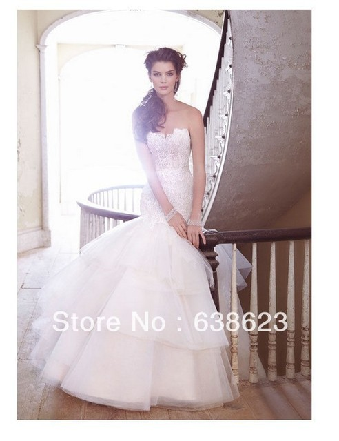 Awl032 Best Beautiful Tailor Made Mermaid Quality Designer Wedding Dresses Online