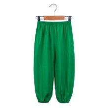 2017 Cool Summer Candy Kids Pants Unisex Children Against Mosquito Cotton Bourette Pajama Bottoms Boys Girls Yoga Sport Trousers