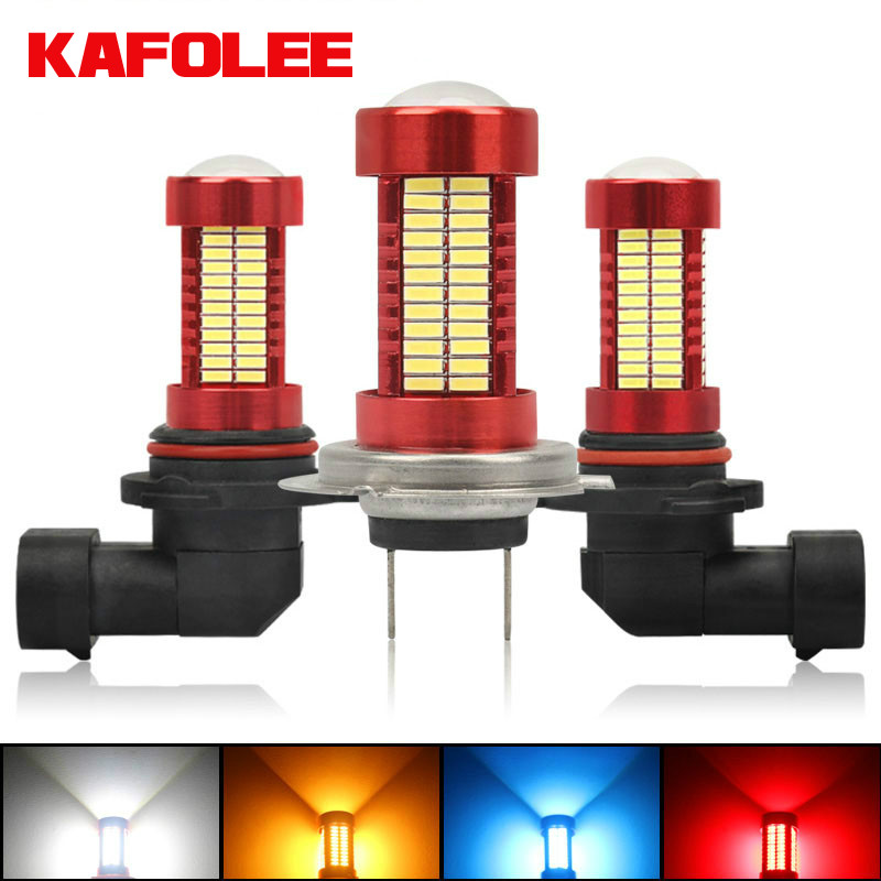 AILEO 2 шт. автомобильные лампы для фар Светодиодный H7 H4 H8 H9 H11 H16(JP) 9005 9006 HB3 HB4 противотуманные фары 4014 чип 106 SMD 3600LM