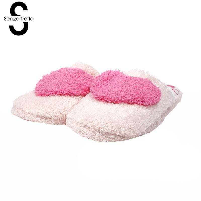 Senza Fretta Cute Love Slippers Pattern Cotton Home Slippers Women Indoor Shoes House Slippers Autumn Paragraph Soft Bottom senza fretta women shoes new summer pvc slippers couples women anti slip home slippers indoor soft bottom women slippers