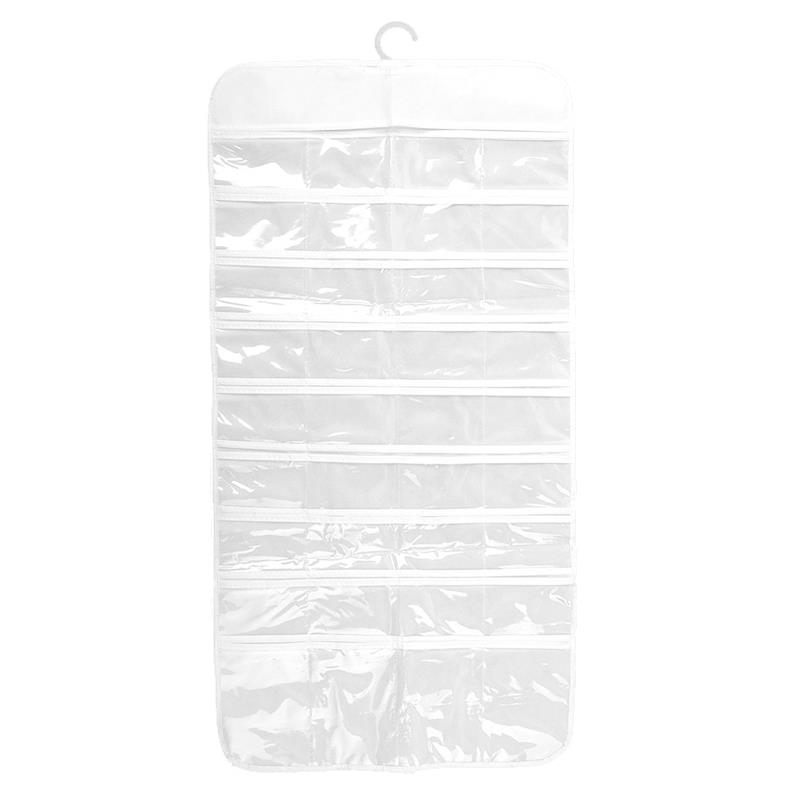 Fashion Non woven Fabric PVC Visible Hanging Jewelry Organizer