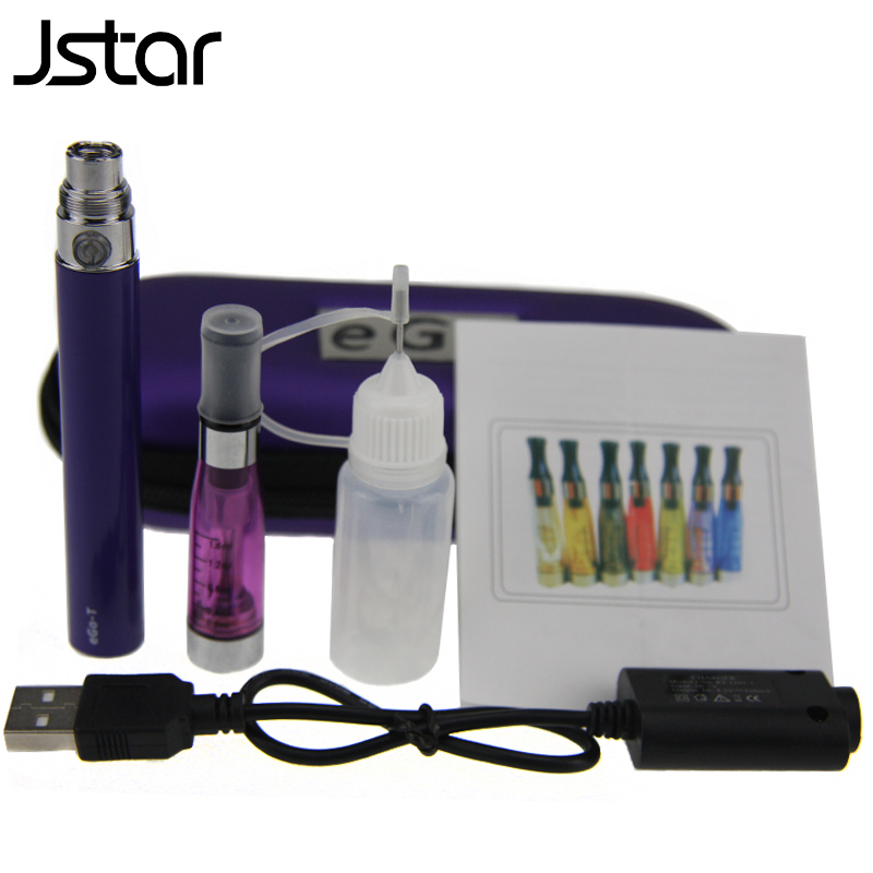 500pcs/lot Jstar EGo CE5 Starter Kits EGo-T Battery 650mah 900mah 1100mah CE5 Atomizer Electronic Cigarette Zipper Case