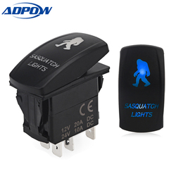 ADPOW 12V 24V LED Light Bar Toggle Rocker Switch SPST ON-OFF 5 Pin ON OFF Rocker Switch For Car Boat Truck