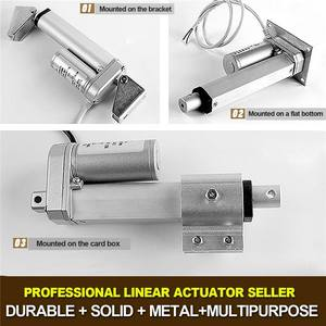 Image 4 - 2 4 8 12 16 20 inch 900N 12V 16mm / s Small DC Electric Push Rod White Material Aluminum Alloy Linear Actuator Motor