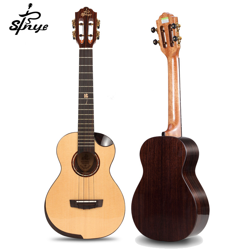 Professional Sinye Solid Ukulele Tenor Concert Electric Ukulele Solid Spruce Ukelele Guitar 23 26 Strings Instruments