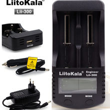 LiitoKala lii-300 LCD 18650 Battery Charger lii300 For 18650 26650 14500 10440 17500 1.2V AA AAA Ni-MH Rechargeable Battery Back