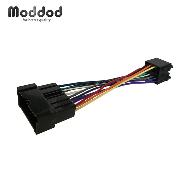 for hyundai kia 1999-2005 iso wiring harness adaptor stereo wire cable aftermarket  radio plug adapter connector