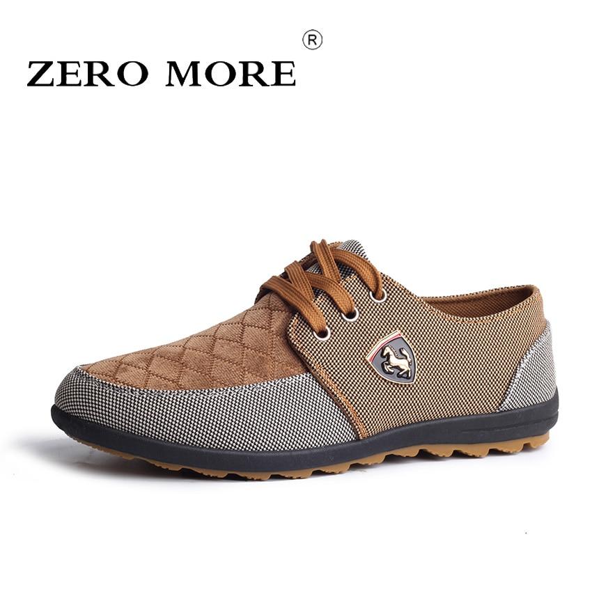 купить ZERO MORE Big Size 39-45 Men Casual Shoes Spring Autumn Fashion Men Canvas Shoes Hot Sale Men Flats Lace Up Male Footwear по цене 801.96 рублей