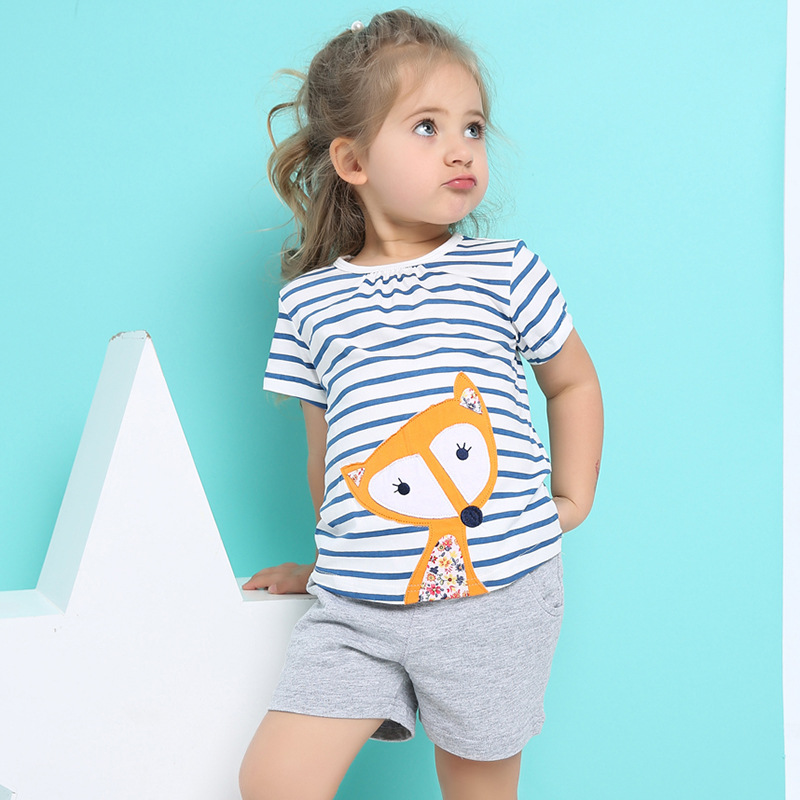 Girls Clothes Children Clothing 2017 Brand Girl Clothing Sets Roupas Infantis Animal Casual Kids Clothes