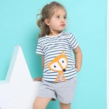 Filles Vêtements Enfants Vêtements 2017 Marque Fille Vêtements Ensembles Roupas Infantis Animaux Casual Enfants Vêtements