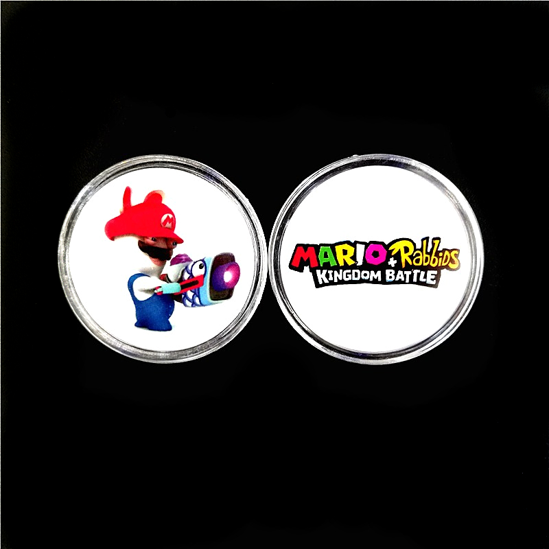 <font><b>Mario</b></font>+Rabbids Kingdom Battle 4Pcs NFC Coin <font><b>Card</b></font> OF <font><b>Amiibo</b></font> Collection Tag Available Zelda Splatoon Super Odyssey Smash bros Fire image