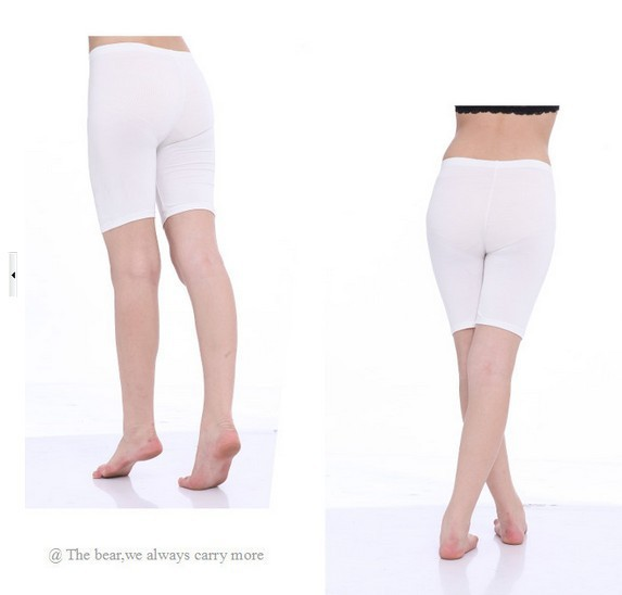 Lowest price ! 50pcs/lot fedex plus size flat/lace modal safe anti emptied underwear wholesale safety short fee shipping