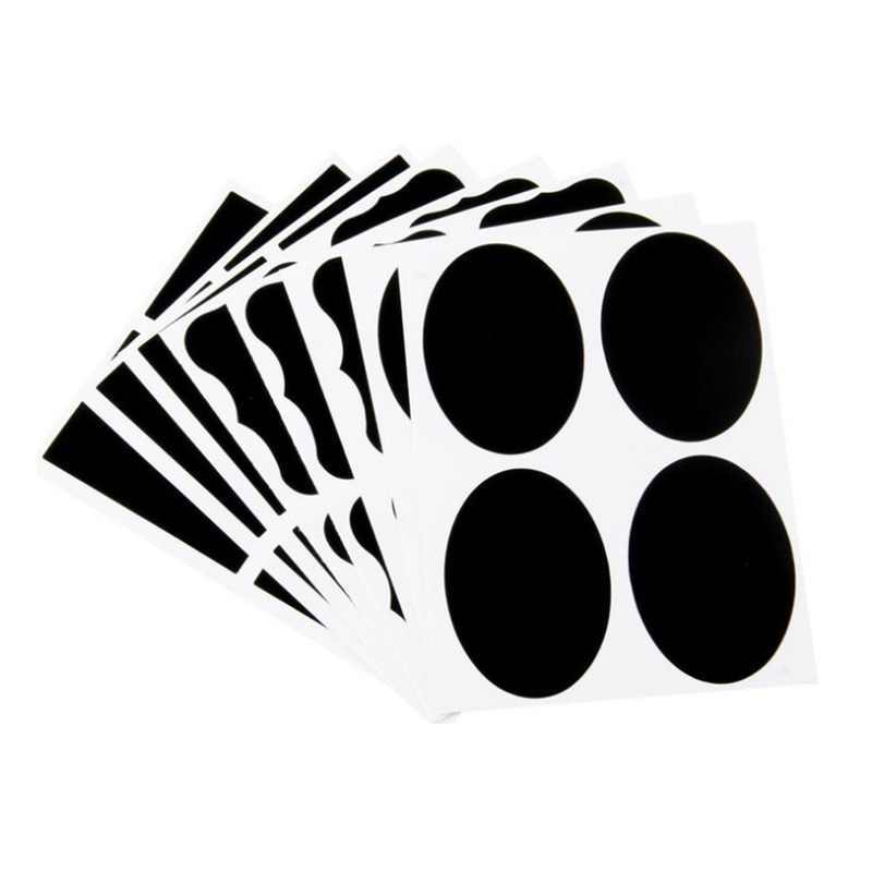 36pcs 49x34mm 재사용 가능한 스티커 레이블 캔디 잼 항아리에 사용할 수 스낵 너트 상자 분필 유리 컨테이너와 스토리지 박스 쓰기