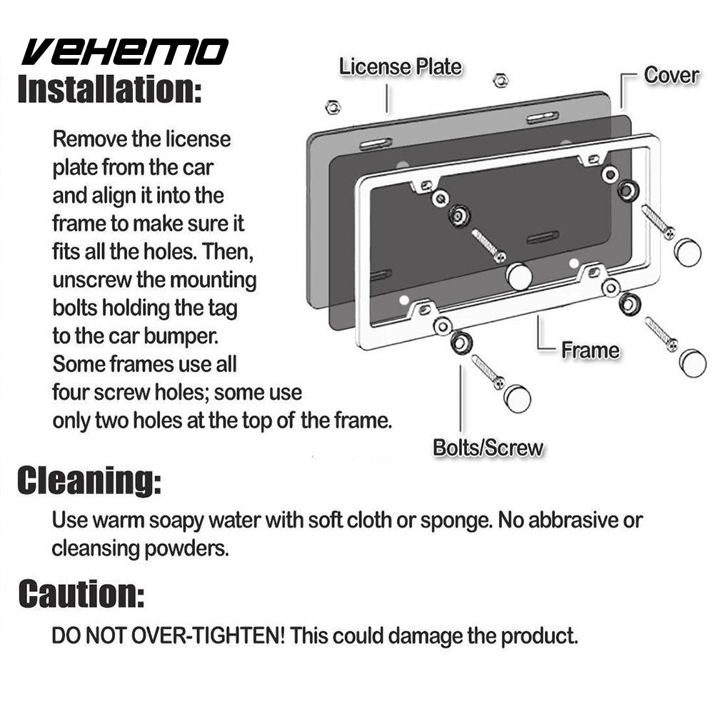 Vehemo Tinted Smoke 4/Set License Plate Frames License Plate Cars ...