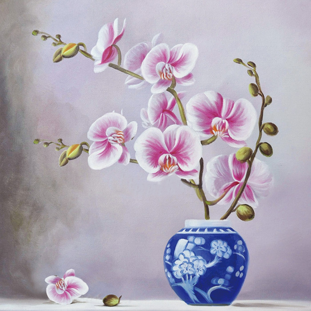 new com diamond orchids design full diy flowers shop diamondpaintingkits photo white stitch kit painting embroidery at mosaic orchid cross home of rhinestone