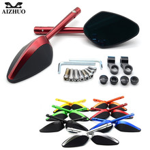 Universal Motorcycle Mirror Motorbike Side Mirrors Rearview For DUCATI 1098/S/TRicoloR 1198R 749/S/R 848 /EVO 999S S4RS
