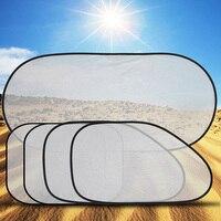 ME3L 3D Photocatalyst Mesh Net Heat Insulation PVC Car Sunshade 5Pcs Set
